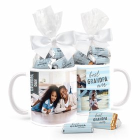 Best Grandpa Personalized 11oz Coffee Mug with approx. 24 Wrapped Hershey's Miniatures