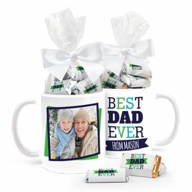 Father's Day Personalized 11oz Coffee Mug with approx. 24 Wrapped Hershey's Miniatures