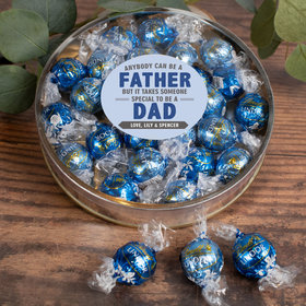 Personalized Father's Day Gifts Large Plastic Tin with Lindt Truffles (24pcs) - Special Dad