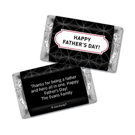 Personalized Father's Day Hershey's Miniatures Trellis Pattern