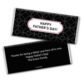 Personalized Father's Day Trellis Pattern Chocolate Bar