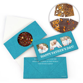 Personalized Father's Day Photos Gourmet Infused Belgian Chocolate Bars (3.5oz)