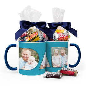 Personalized Father's Day Photos 15oz Mug with Hershey's Miniatures
