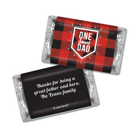 Personalized Father's Day Hershey's Miniatures Red & Black