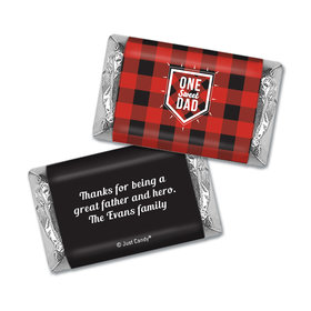Personalized Father's Day Hershey's Miniatures Wrappers Red & Black
