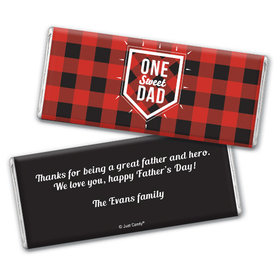Personalized Father's Day Red & Black Chocolate Bar & Wrapper