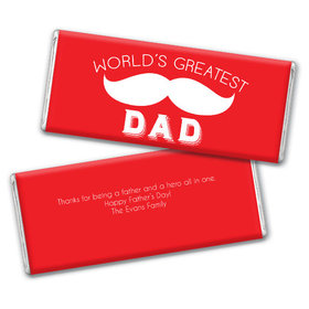 Personalized Father's Day Greatest Dad Chocolate Bar & Wrapper