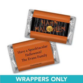 Halloween Personalized Hershey's Miniatures Wrappers Full Moon Spooky Tree