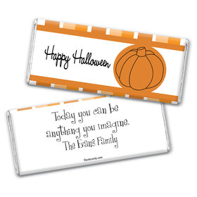 Halloween Personalized Chocolate Bar Wrappers Simple Pumpkin