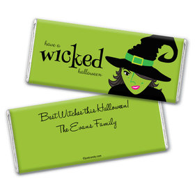 Halloween Personalized Chocolate Bar Wrappers Wicked Witch
