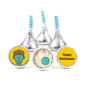 Halloween Personalized Hershey's Kisses Trick or Treat Zombie Assembled Kisses (50 Pack)