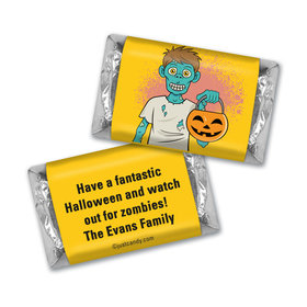 Halloween Personalized Hershey's Miniatures Trick or Treat Zombie