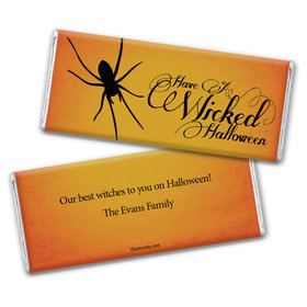 Halloween Personalized Chocolate Bar Wrappers Wicked Halloween Spider