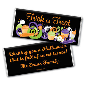 Halloween Personalized Chocolate Bar Wrappers No Tricks Just Treats