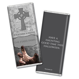 Halloween Chocolate Personalized Bar Grave Robber - Zombie