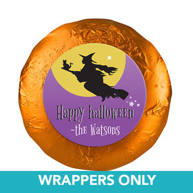 "Personalized Halloween Witch 1.25"" Stickers (48 Stickers)"