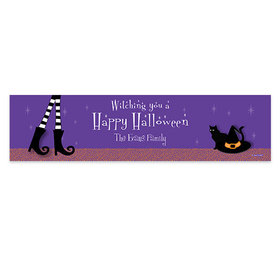Personalized Halloween The Witch Is In 5 Ft. Banner