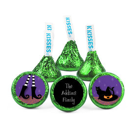 Personalized Halloween The Witch is In Hershey's Kisses (50 pack)