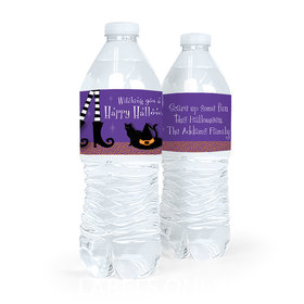 Personalized Halloween The Witch Is In Water Bottle Labels (5 Labels)
