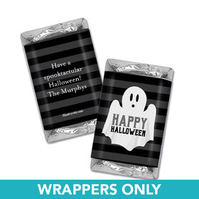 Personalized Halloween Ghouling Ghost Hershey's Miniatures Wrappers