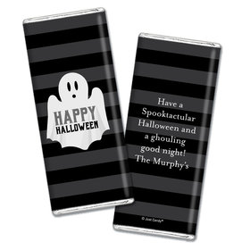 Personalized Halloween Ghouling Ghost Chocolate Bar Wrappers