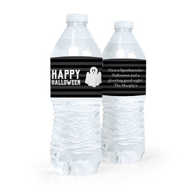 Personalized Halloween Ghouling Ghost Water Bottle Labels (5 Labels)