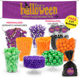 Personalized Halloween Spirit Deluxe Candy Buffet