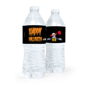 Personalized Halloween Creepy Clown Water Bottle Labels (5 Labels)