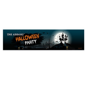 Personalized Halloween Spooky Invite 5 Ft. Banner