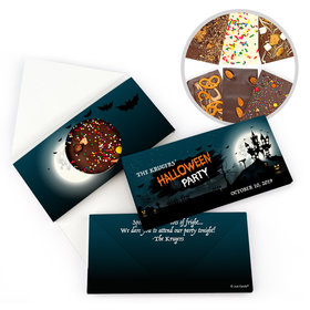 Personalized Halloween Spooky Invite Bar Gourmet Infused Belgian Chocolate Bars (3.5oz)
