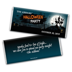 Personalized Halloween Spooky Invite Chocolate Bar & Wrapper