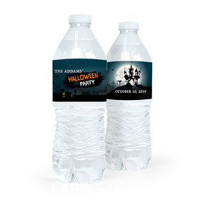 Personalized Halloween Spooky Invite Water Bottle Labels (5 Labels)