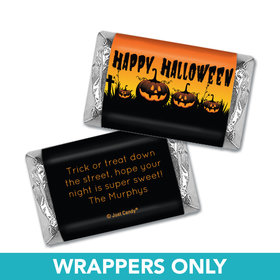 Personalized Halloween Jack'O'Lanterns Hershey's Miniatures Wrappers