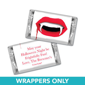 Personalized Halloween Vampire's Kiss Hershey's Miniatures Wrappers