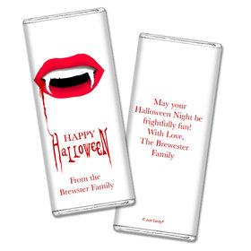 Personalized Halloween Vampire's Kiss Chocolate Bar Wrappers Only