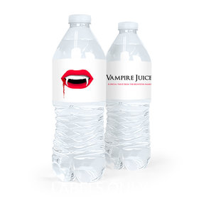 Personalized Halloween Vampire's Kiss Water Bottle Labels (5 Labels)