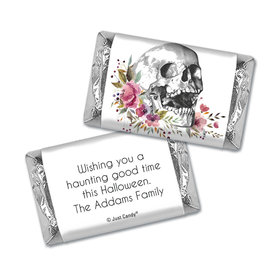 Personalized Halloween Floral Skull Hershey's Miniatures