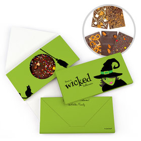 Personalized Halloween Wicked Witch Bar Gourmet Infused Belgian Chocolate Bars (3.5oz)