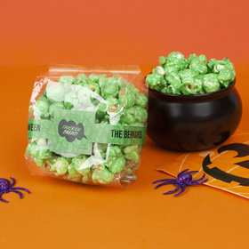 Personalized Halloween Spooky Phrases Candy Coated Popcorn 3.5 oz Bags