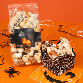 Personalized Halloween Ghostly GreetingsTrendy Trash Popcorn 8 oz Bags