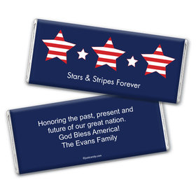 Personalized Patriotic Chocolate Bar Wrappers