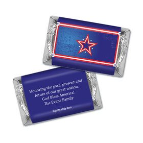 Personalized Patriotic Hershey's Miniatures Wrappers Patriotic Star