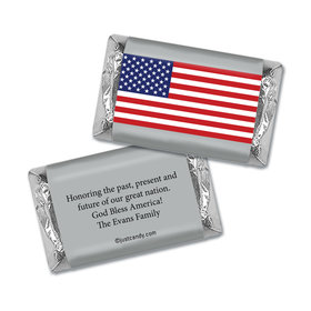 Personalized Patriotic Hershey's Miniatures Wrappers Patriotic American Flag