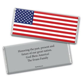Personalized Patriotic Chocolate Bar Wrappers Patriotic American Flag