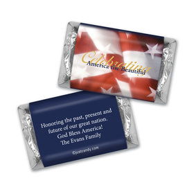 Fourth of July Personalized Hershey's Miniatures America the Beautiful Patriotic Flag