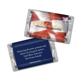 Personalized Patriotic Hershey's Miniatures Wrappers America the Beautiful Patriotic Flag