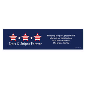 Personalized Independence Day Stars & Stripes 5 Ft. Banner