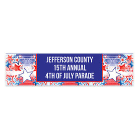 Personalized Patriotic 5 Ft. Banner