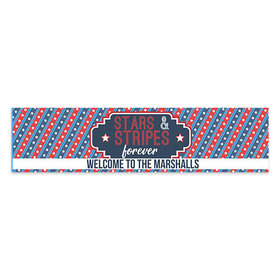 Personalized Patriotic 5ft Banner - Stars and Stripes Forever