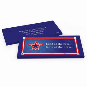 Deluxe Personalized Patriotic Star Hershey's Chocolate Bar in Gift Box